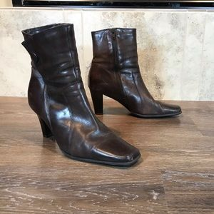 Vintage 90s First Square Toed Boots, Size 7